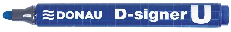 Marker permanentny DONAU D-Signer U, okrągły, 2-4mm (linia), niebieski, Markery, Artykuły do pisania i korygowania