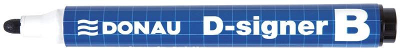Whiteboard Marker DONAU D-Signer B, round, 2-4mm (line), black