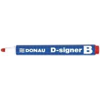 Marker do tablic DONAU D-Signer B, okrągły, 2-4mm (linia), czerwony, Markery, Artykuły do pisania i korygowania