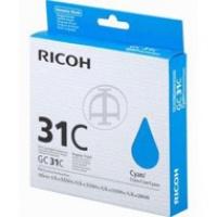 Tusz Ricoh do GXE2600/3300/3350/5550 | 1 000 str. | cyan, Tusze, Materiały eksploatacyjne