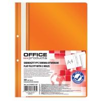 Skoroszyt OFFICE PRODUCTS, PP, A4, 2 otwory, 100/170mikr., wpinany, pomarańczowy, Skoroszyty podstawowe, Archiwizacja dokumentów