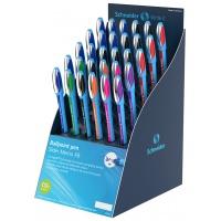 Display długopisów SCHNEIDER Slider Memo, XB, 30 szt., miks kolorów, Długopisy, Artykuły do pisania i korygowania