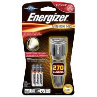 Latarka ENERGIZER Metal Vision HD + 3szt. baterii AAA, srebrna, Latarki, Urządzenia i maszyny biurowe