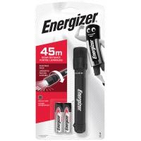 Latarka ENERGIZER X-Focus + 2szt. baterii AA, czarna, Latarki, Urządzenia i maszyny biurowe