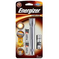 Latarka ENERGIZER Metal + 2szt. baterii AA, srebrna, Latarki, Urządzenia i maszyny biurowe