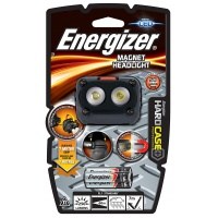 Latarka ENERGIZER Hard Case Magnet Headlight + 3szt. baterii AAA, czarna, Latarki, Urządzenia i maszyny biurowe