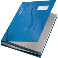 Książka do podpisu Leitz, 18 przekładek, niebieski, Teczki do podpisu i korespondencyjne, Archiwizacja dokumentów