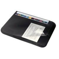 Mata z przezroczystą folią 500 x 650 mm, czarny, Podkładki na biurko, Wyposażenie biura