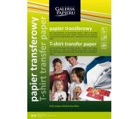 Papier transferowy do nadruku na ciemnych tkaninach, Inkjet, 5 ark.A4/op., Papiery specjalne, Papier i etykiety