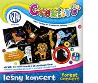 Astra Creativo - Leśny koncert - obrazki do kolorowania z aksamitnym tłem, Produkty kreatywne, Artykuły szkolne