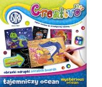 Astra Creativo - Tajemniczy ocean - obrazki zdrapki, Produkty kreatywne, Artykuły szkolne