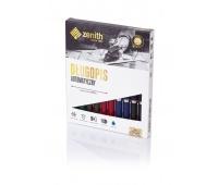 Długopis automatyczny Zenith 10 - box 10 sztuk, mix kolorów, Długopisy, Artykuły do pisania i korygowania