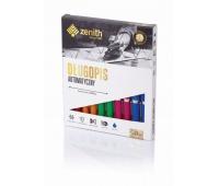 Długopis automatyczny Zenith 10 - box 10 sztuk, mix kolorów pastelowych, Długopisy, Artykuły do pisania i korygowania