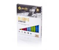 Długopis automatyczny Zenith 25 - box 10 sztuk, mix kolorów pastelowych, Długopisy, Artykuły do pisania i korygowania