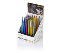 Długopis automatyczny Zenith 25 - display 20 sztuk, mix kolorów pastelowych, Długopisy, Artykuły do pisania i korygowania