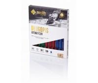 Długopis automatyczny Zenith 5 - box 10 sztuk, mix kolorów transparentnych, Długopisy, Artykuły do pisania i korygowania