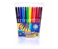 Flamastry Astra CX - 12 kolorów, Plastyka, Artykuły szkolne