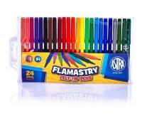 Flamastry Astra CX - 24 kolory, Plastyka, Artykuły szkolne