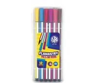 Flamastry Astra heksagonalne w plastikowym boxie - 12 sztuk, Plastyka, Artykuły szkolne