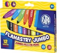 Flamastry Astra jumbo 12 kolorów, Plastyka, Artykuły szkolne