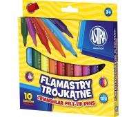 Flamastry Astra trójkątne jumbo 10 kolorów, Plastyka, Artykuły szkolne