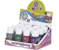Klej brokatowy z confetti 40 ml - display 12 sztuk, Produkty kreatywne, Artykuły szkolne