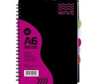 Kołozeszyt PP A6 120 kartek kratka Wave, Zeszyty, Artykuły szkolne