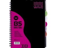 Kołozeszyt PP B5 120 kartek kratka Wave, Zeszyty, Artykuły szkolne