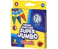 Kredki świecowe super jumbo Astra 8 kolorów, Plastyka, Artykuły szkolne