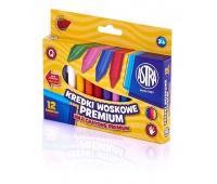 Kredki woskowe Astra 12 kolorów, Plastyka, Artykuły szkolne