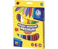 Kredki woskowe Astra 24 kolory, Plastyka, Artykuły szkolne