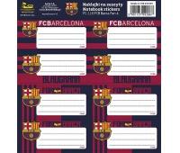 NAKLEJKI NA ZESZYTY FC-116 FC BARCELONA BARCA FAN 4, Produkty kreatywne, Artykuły szkolne