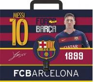 Teczka z rączką A4, twarda oprawa FC Barcelona Barca Fan 4, Teczki przestrzenne, Archiwizacja dokumentów