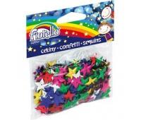Cekiny confetti gwiazdki Fiorello GR-C14-15, Akcesoria, Artykuły dekoracyjne