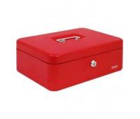 Kasetka EAGLE 8878L czerwona 100x217x300, Kasetki na pieniądze, Wyposażenie biura