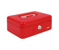 Kasetka EAGLE 8878S czerwony 77x157x207, Kasetki na pieniądze, Wyposażenie biura