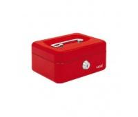 Kasetka EAGLE 8878XS czerwony 70x120x153, Kasetki na pieniądze, Wyposażenie biura