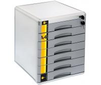 Szafka na dokumenty YL-SM07 - 7 szufl. +zamek, Szafki na dokumenty, Wyposażenie biura