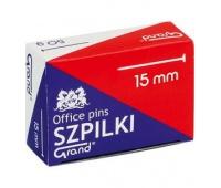 """Szpilki krótkie 15mm - 50g GRAND A""""10, Szpilki, Drobne akcesoria biurowe"""