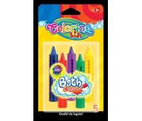 Kredki do kąpieli 5 kol Colorino Kids, Plastyka, Artykuły szkolne