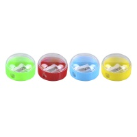 Pencil Sharpener DONAU, plastic, single hole, small round, assorted colours