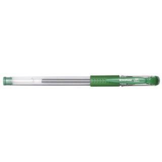 Długopis żelowy DONAU z wodoodpornym tuszem 0,5mm, zielony