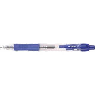 Długopis automatyczny żelowy DONAU z wodoodpornym tuszem 0,5mm, niebieski