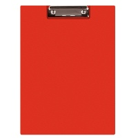 Clipboard DONAU File, PP, A4, with a clip, red