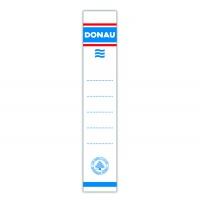 Etykiety wsuwane do segregatora DONAU, 28x153mm, dwustronne, 20szt., Etykiety opisowe, Papier i etykiety