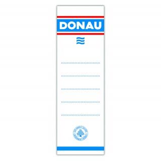 Etykiety wsuwane do segregatora DONAU, 48x153mm, dwustronne, 20szt., Etykiety opisowe, Papier i etykiety
