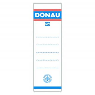 Etykiety samoprzylepne do segregatora DONAU, 54x153mm, jednostronne, 20szt., Etykiety opisowe, Papier i etykiety