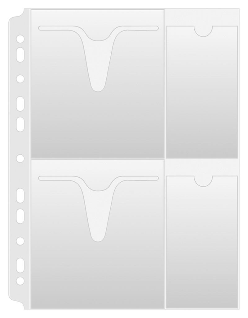 Punched Pockets for Cd/DVD DONAU, PP, A4, orange peel, 160 micron