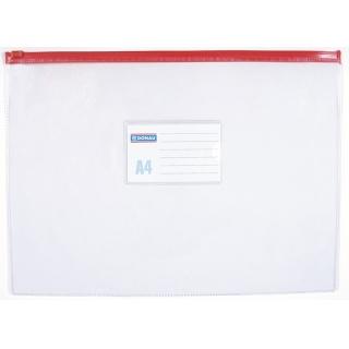 Torebka z suwakiem DONAU, PVC, A4, transparentna, Torebki, Archiwizacja dokumentów