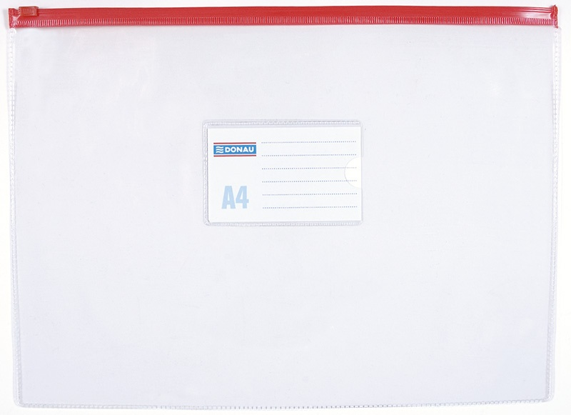 Zip Bag DONAU, PVC, A4, clear